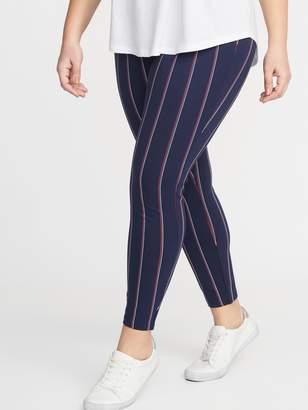 Old Navy High-Waisted Striped Ponte-Knit Plus-Size Stevie Pants