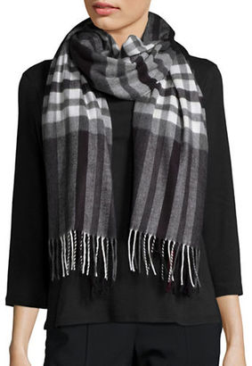 Lord & Taylor Plaid Blanket Wrap and Scarf $48 thestylecure.com