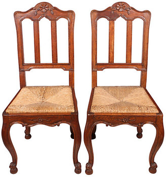One Kings Lane Vintage French Dining Chairs - Set of 2 - Blink Home Vintique