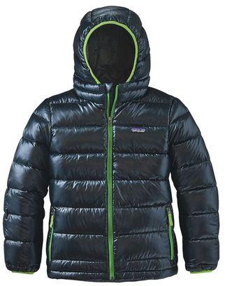 Patagonia Boys' Hi-Loft Down Sweater Hoody $179 thestylecure.com
