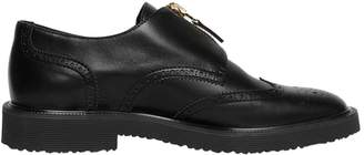 Giuseppe Zanotti Design Zip-Up Wing Tip Brogue Leather Shoes