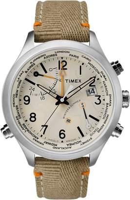 Timex R) Waterbury Canvas Strap Watch, 43mm