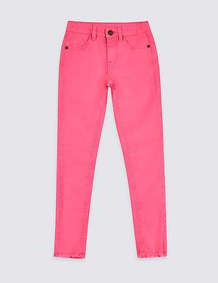 Marks and Spencer Bright Pink Cotton Rich Super Skinny Jeans (3-16 Years)