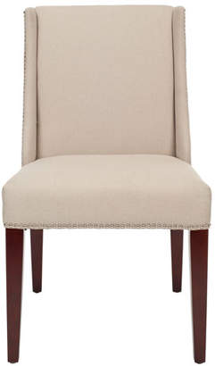 "Vince Two ""Lauren"" Linen Side Chairs"