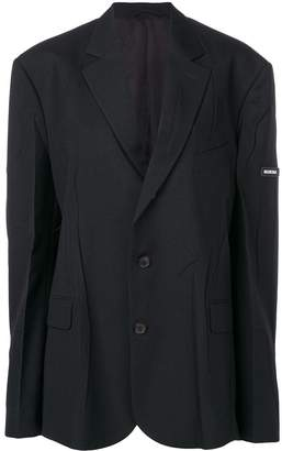 Balenciaga (バレンシアガ) - Balenciaga オーバーサイズ シングルジャケット