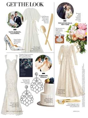 Kenneth Jay Lane Brides/ October 2017 - Crystal Lace Pierced Or Clip Earrings