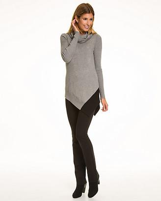 Le Château Colour Block Viscose Blend Tunic Sweater