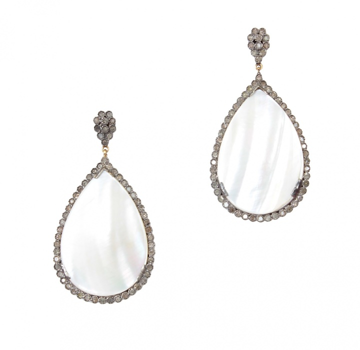 Mother of Pearl Caviar Dreams Jewelry Collection & Diamond Teardrop Earrings