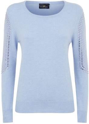 William Sharp Crystal Embellished Sweater