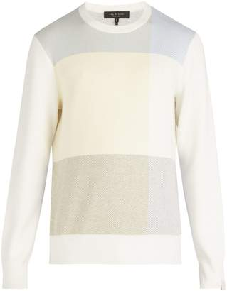 Rag & Bone Mitch jacquard-knit cotton blend sweater