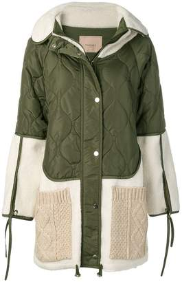 Twin-Set quilted patchwork parka