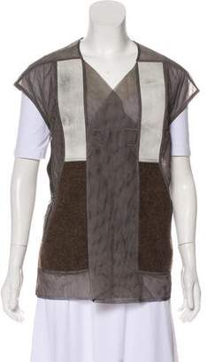 Rick Owens Mesh Wool-Accented Vest w/ Tags