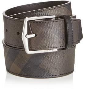 Burberry Joe London Check Leather Belt