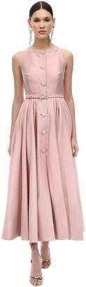 Alessandra Rich Cotton Shantung Dress