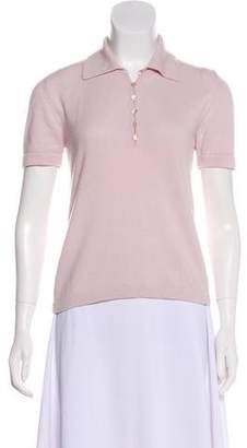 Malo Cashmere Short Sleeve Top