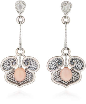 Arunashi One-Of-A-Kind Diamond And Conch Pearl Earrings