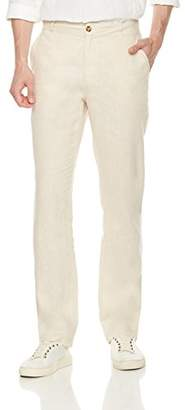 Isle Bay Linens Men's Summer Linen Beach Waist Loose Pants
