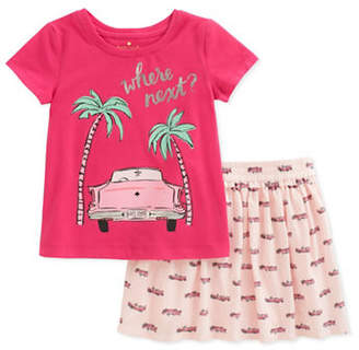 Kate Spade Two-Piece Where Next Tee and Cars Skirt Set