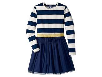 Toobydoo Tulle Dress w/ Rugby Stripe (Infant/Toddler/Little Kids/Big Kids)