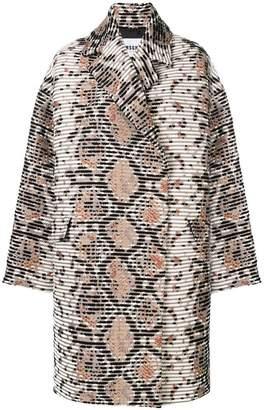 MSGM oversize textured coat