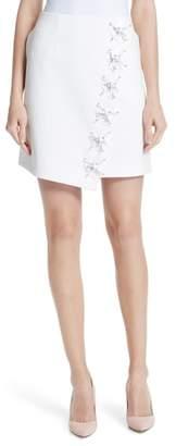 Ted Baker Embellished Faux Wrap Mini Skirt