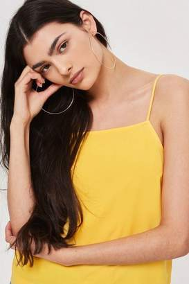 Topshop Yellow Square Neck Cami