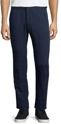 Orlebar Brown Bedlington Linen-Blend Pants, Navy $265 thestylecure.com