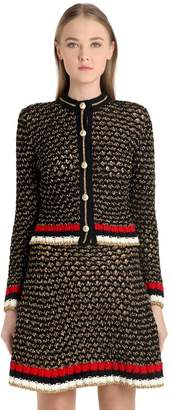 Gucci Heavy Cotton & Lurex Blend Cardigan