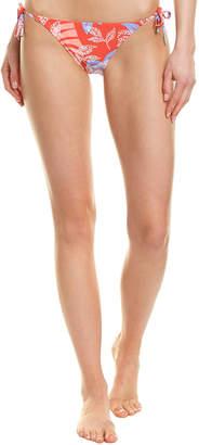 Red Carter Tie-Side Bikini Bottom