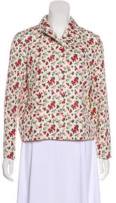 Nina Ricci Floral Print Blazer