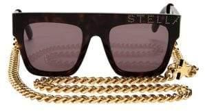 Stella McCartney Iconic Flat Top Tortoise Shell Sunglasses