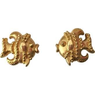 Gianni Versace Gold Metal Earrings