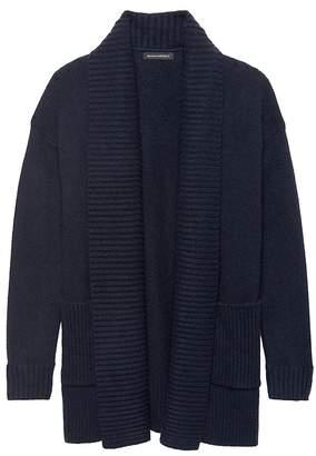 Banana Republic Cotton-Merino Wool Blend Coatigan Sweater