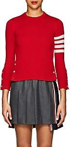 Thom Browne Women's Block-Striped Cashmere Sweater - Red