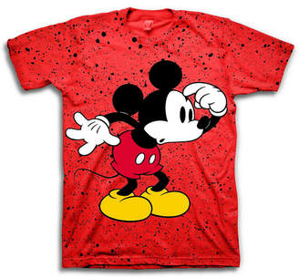 DISNEY MICKEY MOUSE Disney Short Sleeve Crew Neck Mickey Mouse T-Shirt-Big Kid Boys