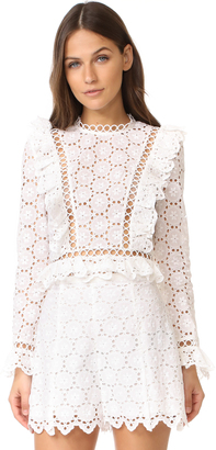 Zimmermann Divinity Wheel Frill Top $530 thestylecure.com