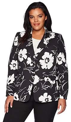 Calvin Klein Women's Plus Size Floral Blazer