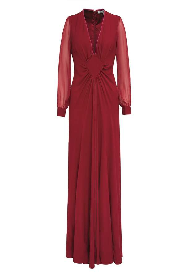 Long Jessie Dress Bright Red