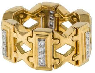 Carvin French 18K Flexible Diamond Ring
