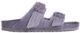 Rick Owens Birkenstock Grey Pony Hair Arizona Sandals