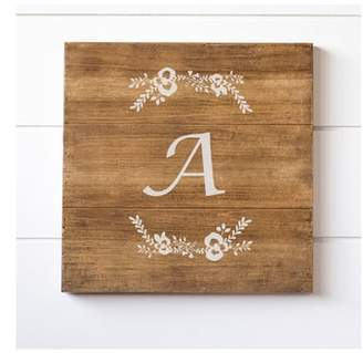 Cathy's Concepts Monogram Rustic Wood Sign