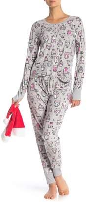 Couture PJ Owl Print Pj Set