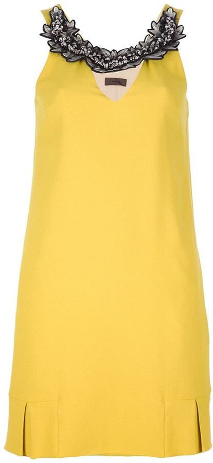 Jo No Fui embellished shift dress
