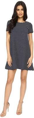 Brigitte Bailey Uma Short Sleeve Striped Dress Women's Dress