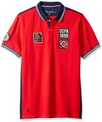 U.S. Polo Assn. Men's Short Sleeve Classic Fit Fancy Pique Shirt