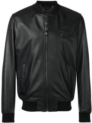Billionaire leather bomber jacket