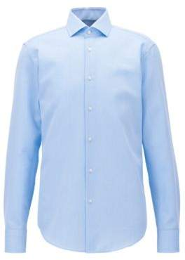 BOSS Hugo Checked Egyptian Cotton Dress Shirt, Regular Fit Gordon 17 Light Blue