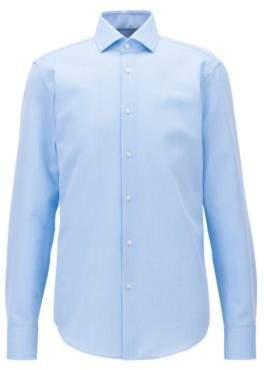 BOSS Hugo Checked Egyptian Cotton Dress Shirt, Regular Fit Gordon 18 Light Blue