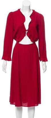Reformation Midi-Length Short Sleeve Dress