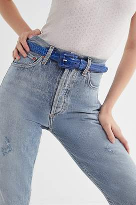 Urban Outfitters Covered Square Buckle Belt